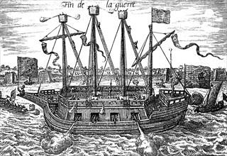 The rebel ship Fin de la Guerre during the siege of Antwerp