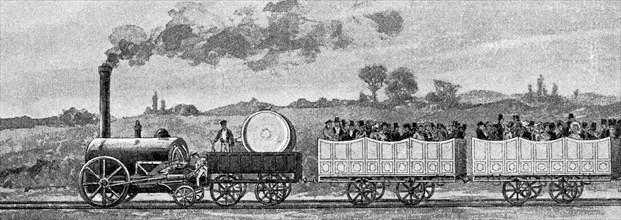 first passenger train on the Liverpool to Manchester route