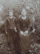 Grossmutter und Enkel