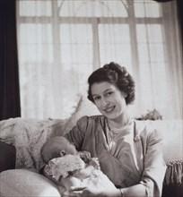 La princesse Elisabeth et le prince Charles bébé