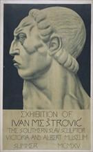 Affiche de l'exposition d'Ivan Mestrovic au V&A, 1915