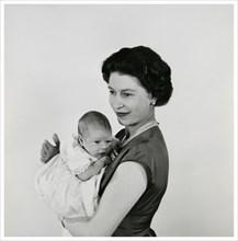 La reine Elisabeth II et son fils le prince Edward