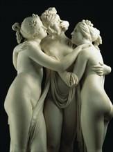 Canova, Les Trois Grâces (détail)