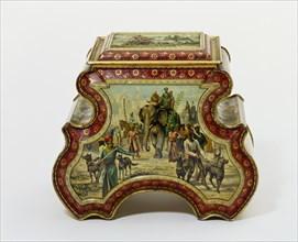 Biscuit Tin, by Huntley, Boorne & Stevens. England, 1894
