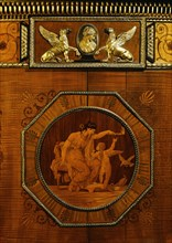 The pier glass and commode, detail, by Robert Adam. London, England, 1773