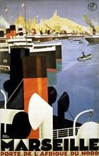 Brodes, Affiche pour Marseille, porte de l'Afrique du Nord