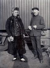 Chine, employé du chemin de fer français et ingénieur chinois