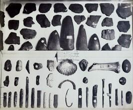 Collection d'outils préhistoriques, British Museum