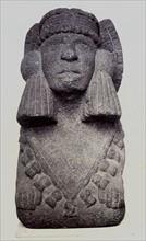 Sculpture en pierre représentant Chalchiuhtlicue, British Museum