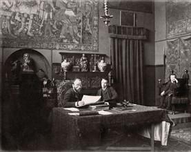 Jean-Paul Laurens dans son atelier