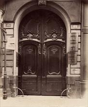 Atget, Porte, 42 rue de Cléry à Paris