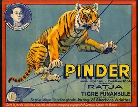Affiche pour le cirque Pinder