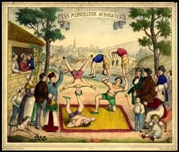Affiche pour le cirque et ses acrobates