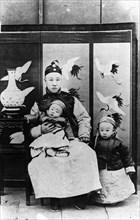 Pu Yi, son père et son frère.